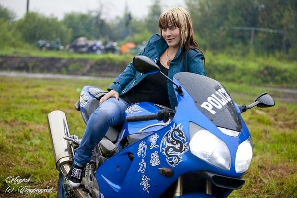 Picture with tags: Real, Motorcycles and bicycles, Girl