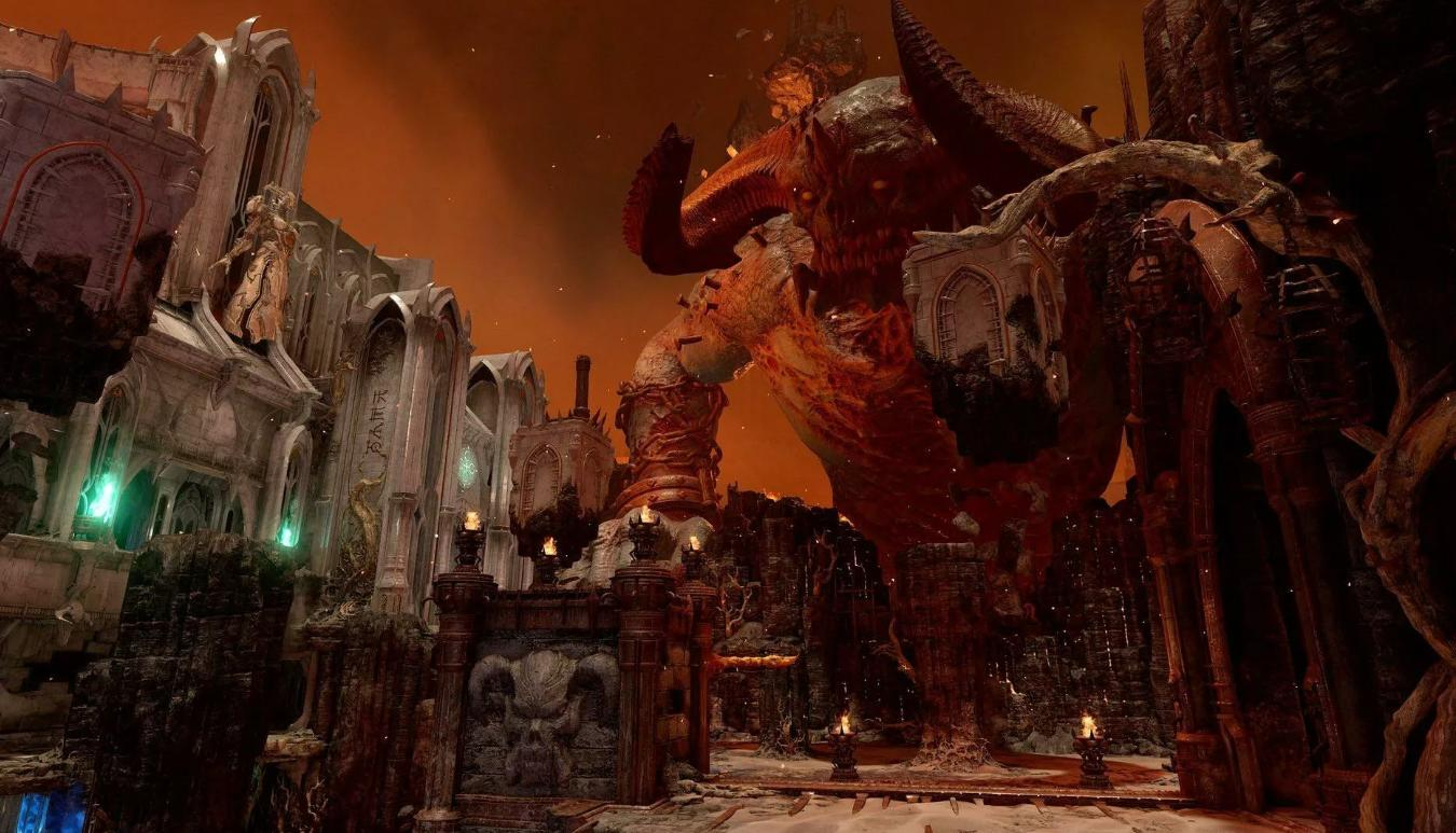 Picture with tags: HD, Xbox One, PlayStation 4, PlayStation 5, Nintendo Switch, Xbox Series X, Gaming, 100, Recommendations, Doom Eternal, Codes, Shooter, PC, Reviews
